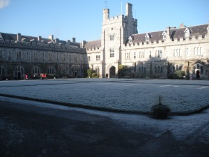 This is the Main Quad at my school in Ireland. Thanks for sending me to Hogwarts Mom and Dad!