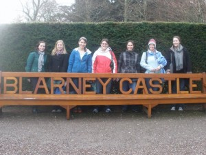 group with blarney bench